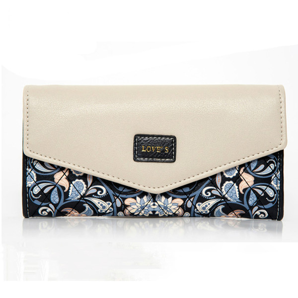 2018 Fashion Women Wallet Embroidered Flowers Womens Purse Handbag Cell Phone Wallet Female Pocket Carteira Femme Pouch