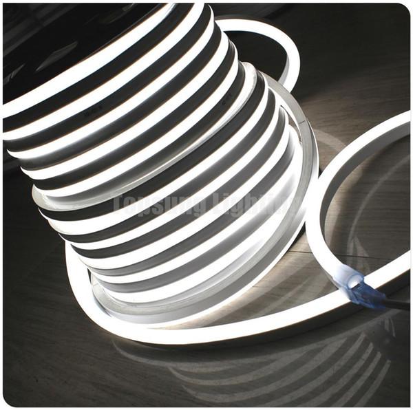 164ft 110 V Cor Sólida Tubo De Néon De Luz 14x26mm SMD2835 LED Iluminação de Néon Flexível Decoração À Prova D 'Água Iluminação Vermelho Azul Branco