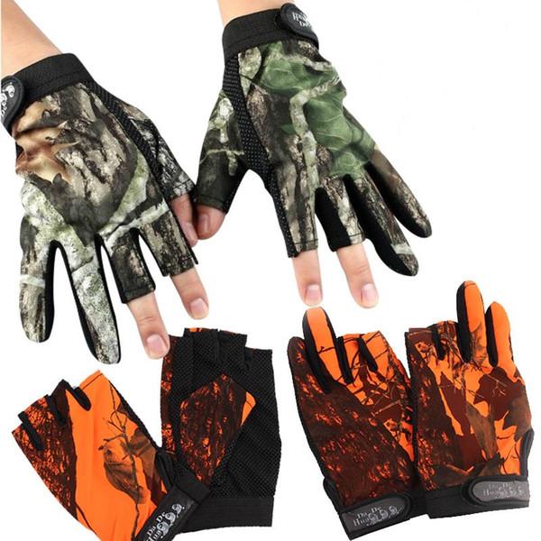 Bunte angeln camouflage handschuh anti skid schwimm punkt design mitt wasserdichte halbe fingerhandschuhe universal heißer verkauf 12yl b