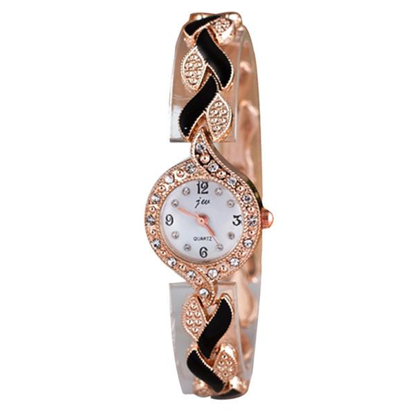 Marca de fábrica JW Pulsera Relojes Mujeres Cristalino de Lujo Vestido de  Relojes de Pulsera Reloj b94f785b5cf6