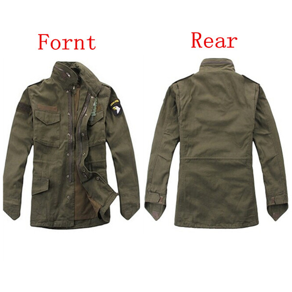 military tactical jacket for men Army fans outdoor M65 windbreaker jacket removable liner 101st Airborne Division Y1893006