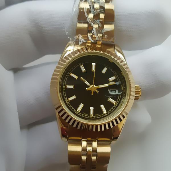 26 MM Ultra ince gül altın kadın elmas çiçek saatler marka lüks hemşire bayanlar elbiseler kadın Kızlar için Katlanır toka kol ...
