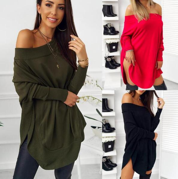 Haute qualité manches papillon minces femmes t-shirt automne mode dames occasionnels long pull pulls amples