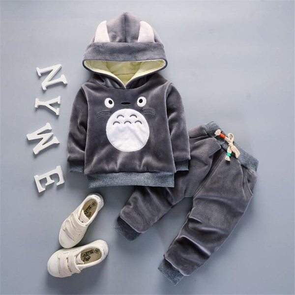 Baby boys autumn winter warm clothing sets newborn baby hoodies coat+pants sports suit cotton for boys toddler tracksuit clothes