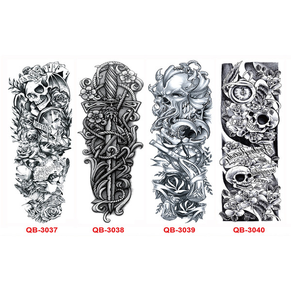20 Stücke Kühle Metall Tattoos Männer Frauen Tattoo Ärmel Arm Wasserdicht Temporäre Tattoos Übertragbare Aufkleber Body Art Flash Tattoo