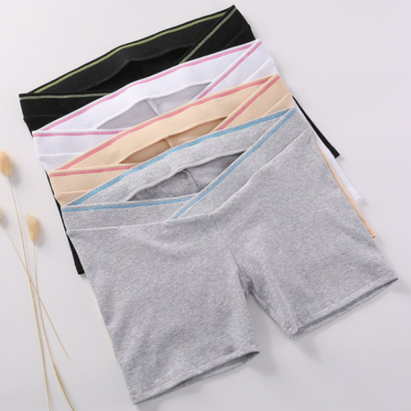 2018 new cotton Maternity Shorts Summer plus size maternity safety pants For Pregnant women low waist leggings M172