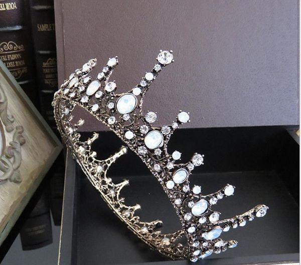 Bridal Jewelry Baroque Crown Round Crown Taobao Hot Sale One Generation Day Headwear Wedding Dress Accessories