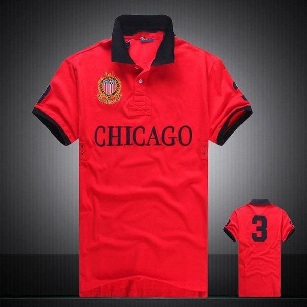 Men's Polo Shirt Short Sleeve T shirt Brand London New York Chicago polos men's shirt cotton Dropship Cheap High Quality Tops