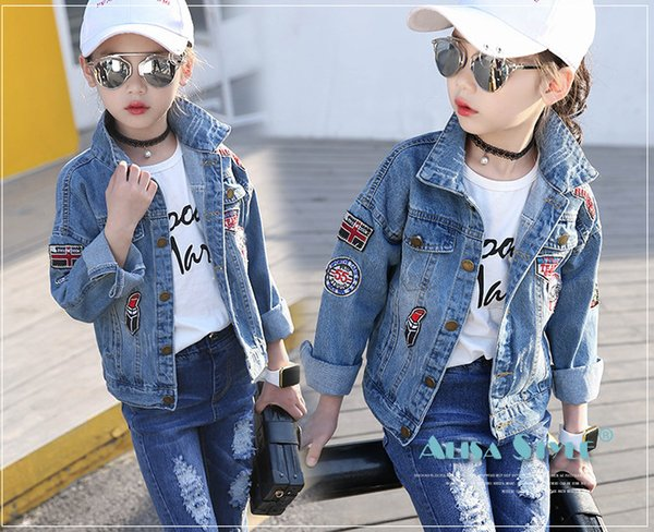 Tops Age:1-3 Years Old Letter Holes Denim Pants Three-Piece Set Tronet Baby Girl Boy Winter Tassel Denim Jacket