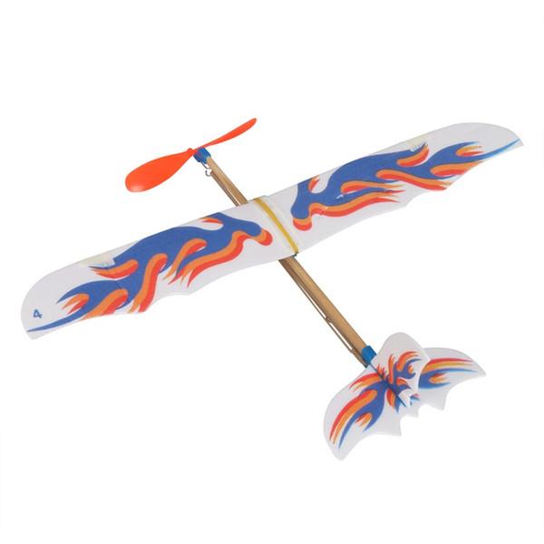 Hot! DIY Plastic Foam Elastic Rubber Powered Flying Plane Kit Aircraft Model Educational Toy Best Festival Gifts For Children