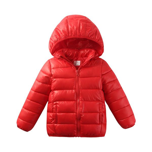 2017 Newest 2-11Y Ultra light baby Girls boys cotton jacket coat winter autumn warm children letter parkas clothes cheap free