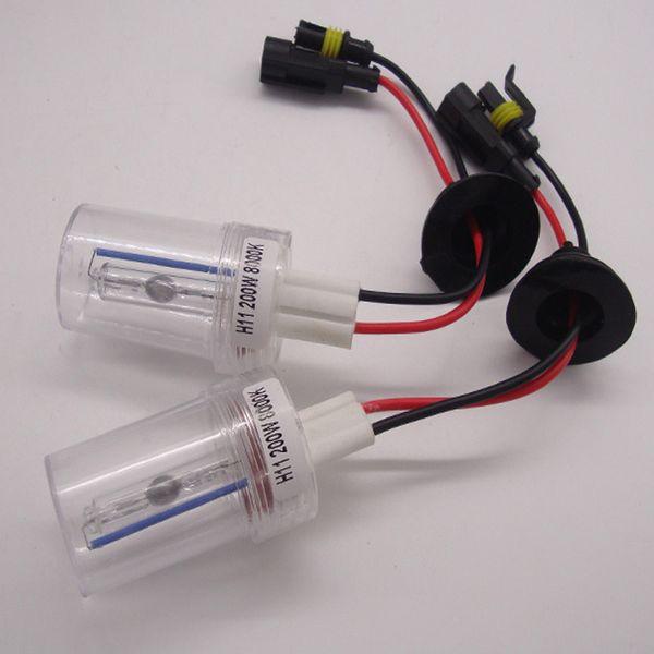 High Power 200W HID Xenon Bulb Car Headlight Light Lamp H1 H4 H7 H11 9005 9006 6000K White