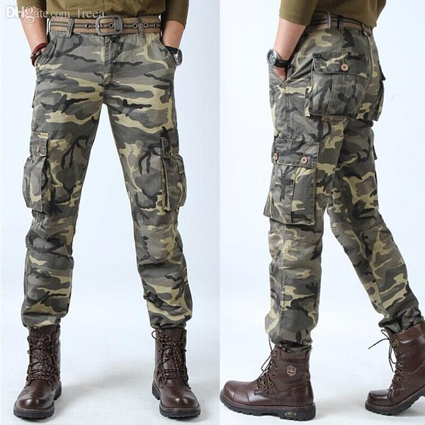 Wholesale-2016 HOT Dnine Autumn Army Fashion Hanging Crotch Jogger Pants Patchwork Harem Pants Men Crotch Big Camouflage Pants Trousers