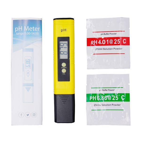 2018 Nouveau Protable LCD Numérique PH Mètre Stylo de Testeur précision 0.01 Aquarium Piscine Eau Vin Urine Étalonnage automatique Mesure 20% de réduction