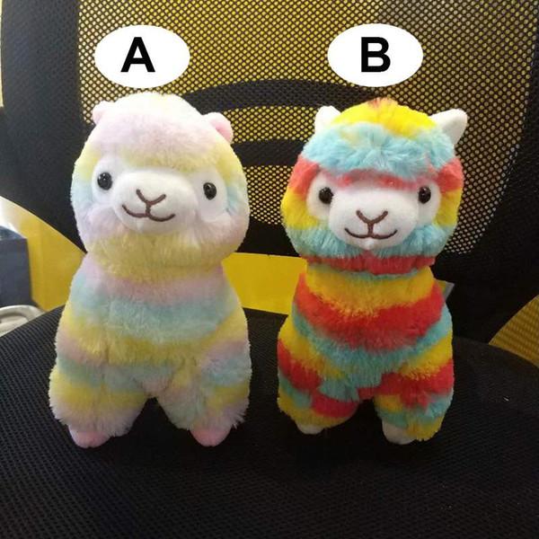 2018 Llama Arpakasso Stuffed Animal 35cm/14 inches Rainbow Alpaca Soft Plush Toys Kawaii Cute for Kids Christmas present