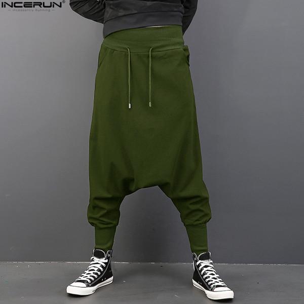 Online Shop INCERUN Männer Harem Hosen Solide Hip Hop