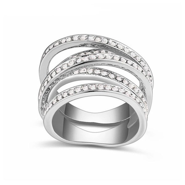 2018 Hot Sale Luxury Rings For Women Engagement Female Weddings Rings Jewelry