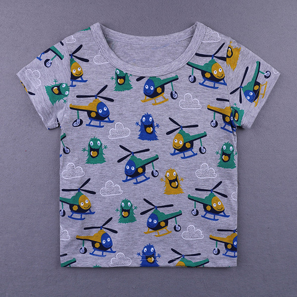 2018 Boys Tops Summer 2018 Kids Tales Children T shirts Boys Clothes Kids Tee Shirt Cartoon animal cute Print Baby Boy Clothing