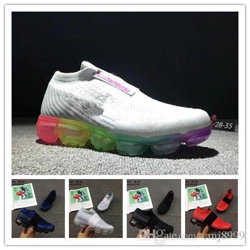 (With Box) Rainbow 2018 Sneakers Running Shoes Children Athletic Shoes Boys Girls Kids Shoes Training Sports Sneaker shoe Size US 11C-3Y