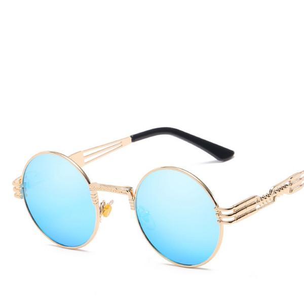 Marco dorado / lente azul