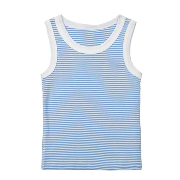 stripe 1-4Y Children's T shirt boys t-shirt Baby Clothing Little girl Summer sleeveless shirt Tees Cotton solid Casual Kids Clothes