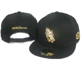 100% Yüksek Kalite Erkekler Markalar Hip hop Streetwear Siyah D9 Dnine Rezerv Altın Dua Eller Snapback Ayarlanabilir erkek Beyzbol ...