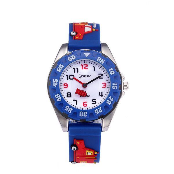 Kid Watch 3D Cartoon Truck Lovely Kids Girls Boys Children Students Quartz Wrist Watch Very Popular Wristwatc Sports Clock