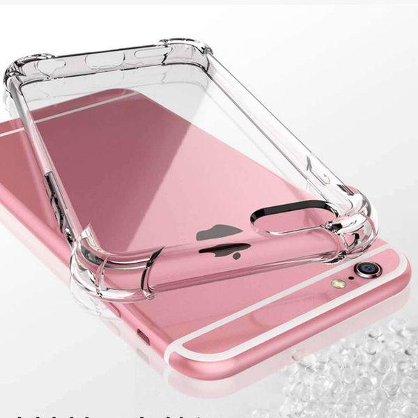 Proteger o seu telefone anti-knock suave tpu transparente limpar phone case capa proteger à prova de choque casos macios para iphone x 6 7 8 plus