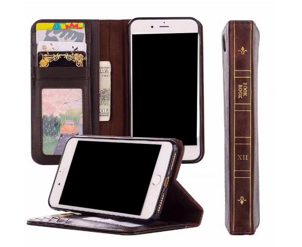 Book Style Leather Wallet Case For Iphone XR XS MAX X 10 8 5 5S SE Galaxy Note 9 Note9 S9 S8 Retro Ancient Vintage Old Flip Kickstand Cover
