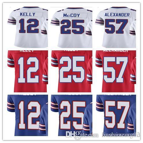 dc136cd4d custom BuffaloBill Men Women Youth jersey 12 JimKelly 25 LeSeanMcCoy 57  LorenzoAlexander Vapor Untouchable Limited Rush football Jerseys
