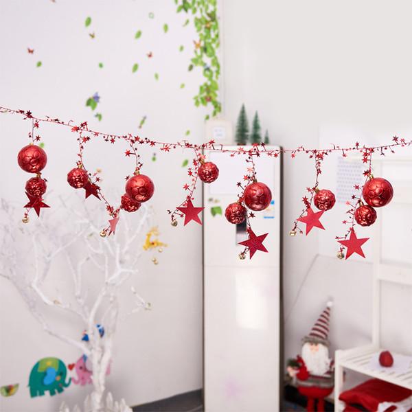 2.3 M Décoration De Noël Boule Cloche Chaîne Pendentif Pour Arbre De Noël DIY Vacances De Mariage Désherbage Décoration de La Maison Ornement Fournitures
