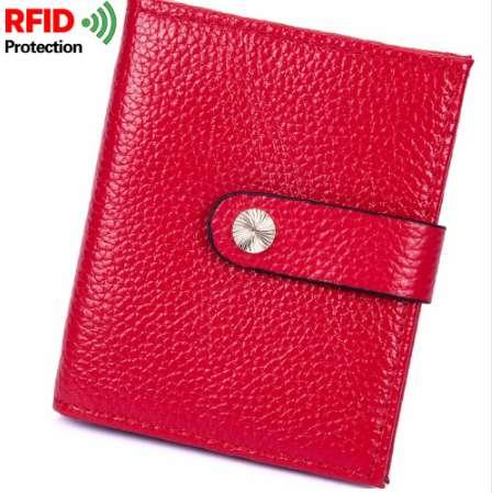 100% Genuine Cow Leather Women Money Clips Slim Design Credit Card Dollar Clip Purse Cowhide Small Coin Wallet Female MRF26