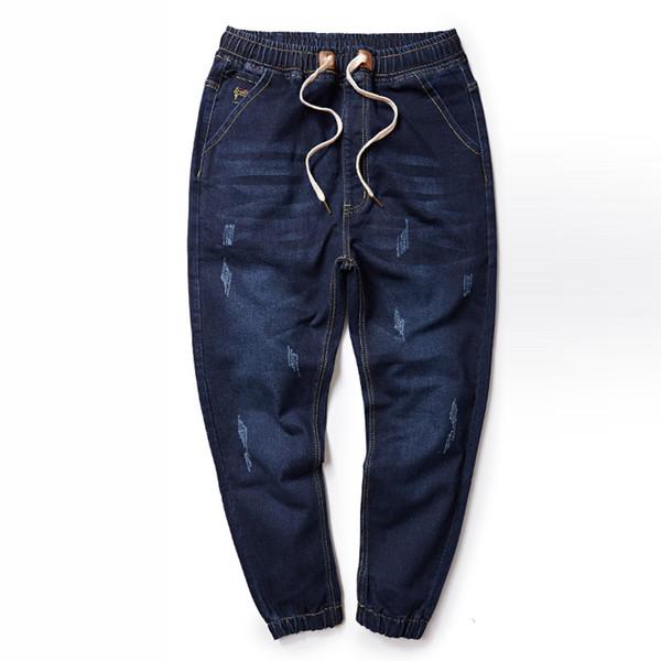2018 Plus Size M-6XL 7XL 8XL Men's Jeans Good Quality Stretch Jeans Men Designer Mens Pants Casual Slim Denim Harem Pants
