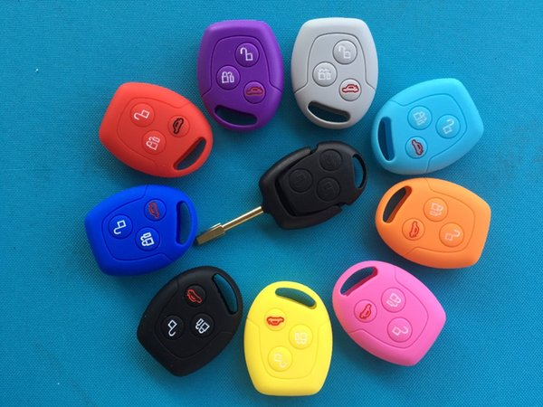 3 Buttons Remote Silicone Car Fob Key Case Cover For Ford Focus Mondeo Festiva Fusion Suit Fiesta KA Holder Protector