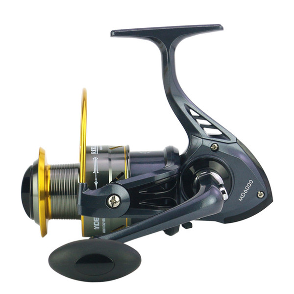 MD500-10000 Fishing Reels Metal Rocker Arm Wire Cup Spinning Reel Raft Lure Shore Shot Pre-Loading Wheel