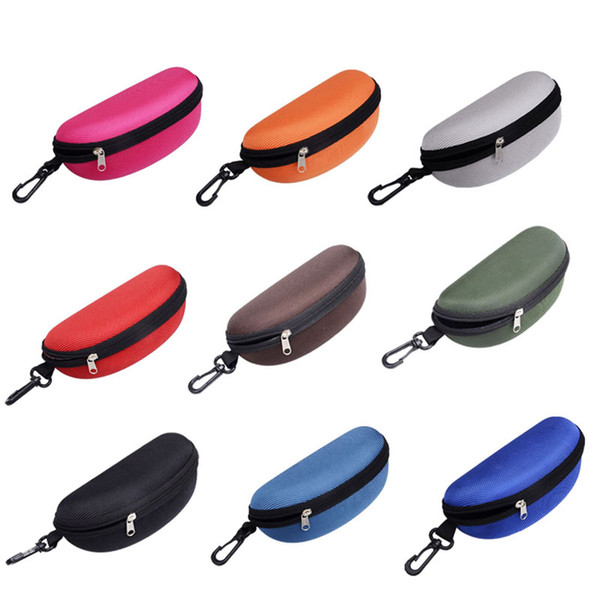 500pcs/lot New Sunglasses Reading Glasses Carry Bag Hard Zipper Box Travel Pack Pouch Case Portable Protector