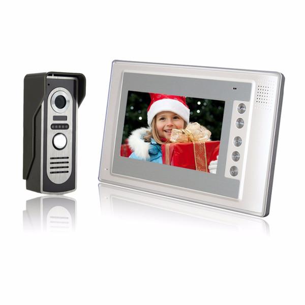 Home Security 7 inch TFT LCD Monitor Color Video Door Phone Intercom System IR Outdoor Camera Doorphone