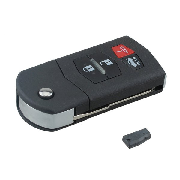 313MHz 4 Buttons Keyless Uncut Flip Remote Key Fob KPU41788 with ID63 Chip 80 for 2010 2011 2012 Mazda KEY_118