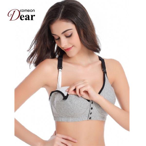 Comeondear Underwear Set Sleep Bras for Nursing Pregnant Maternity BB017 Front Opening Buckle Comfortable Breastfeeding Bra