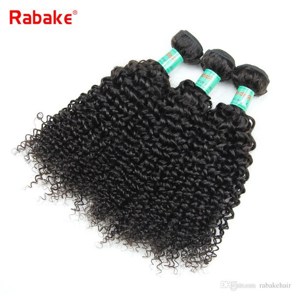 3/4pcs lot Human Hair Bundles Rabake Afro Kinky Curly Peruvian Hair Extensions Wavy Weave Double Wefts Wholesale Cheap Deals for Black Women
