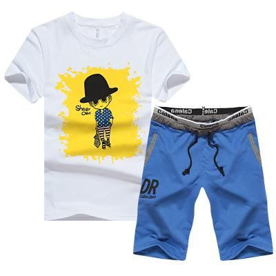 Beach Wear Surf Life Male O-neck Short Sleeves Top Short Pants Casual Suit Short Tracksuit Athletic Style Men Clothes