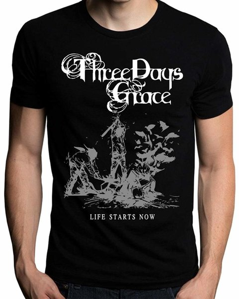 T-Shirt UD Gate Three Days Grace inizia ora T-Shirt in cotone a maniche corte T-shirt TOP TEE T Shirt Homme 2018 Nuovo