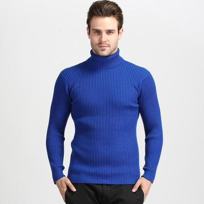 2018 Winter New Men's Pullover Sweater Solid Color Slim High Collar Wool Yarn High Quality Hooded Casual Knit Mens Clothing Plus Size XXXL