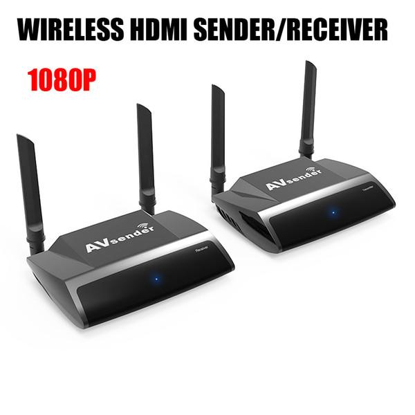 1080 P PAT-590 2.4 / 5.8 GHz Kablosuz HDMI Verici Alıcı Uzaktan Kumanda AV Gönderen Alıcı STB TV Box için HDMI Extender LCD Monitör