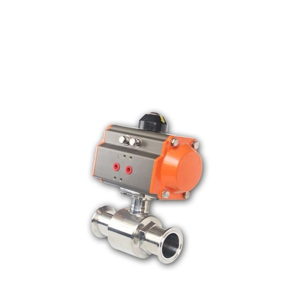 best selling Factory Price DN32 Sanitary Pneumatic Quick Ball Valve