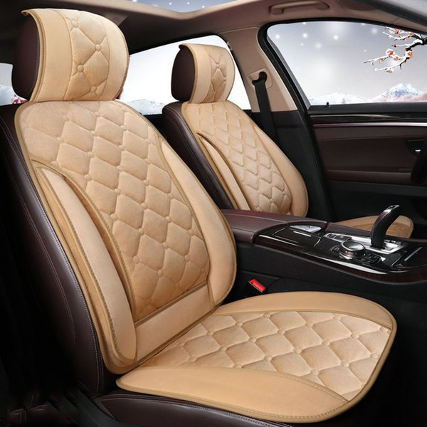 Quality Plush Velevet Car Seat Cushion Cover Warm Winter t Universal Size Front Truck SUV RV Auto Seat Cushion Front Rear Seat Full set
