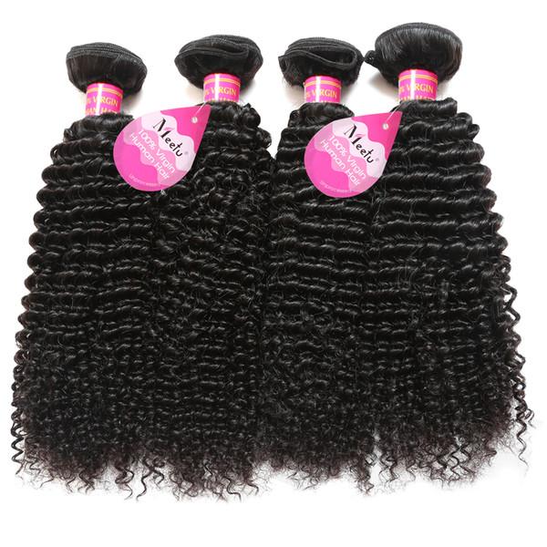 Capelli brasiliani peruviani malesi ricci umani naturali Jerry Curl capelli tesse 4 bundles estensioni dei capelli vergini non trasformati per le donne nere