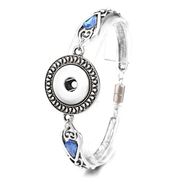 Fashion NOOSA Snap Charms Bracelet 5 Styles Magnet Clasp 18mm Vintage Interchangeable Jewelry Girls Charm Bracelets Silver Plated For Women