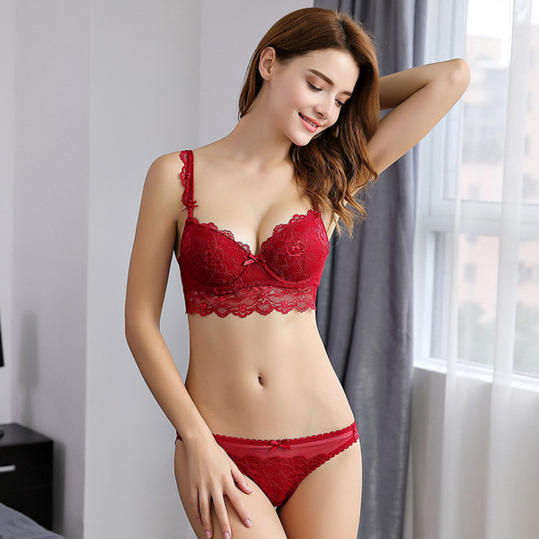 The new bra sets sport set brings together sexy lace plus size ladies satin silk panties womens underwear lingerie bralette panty corset