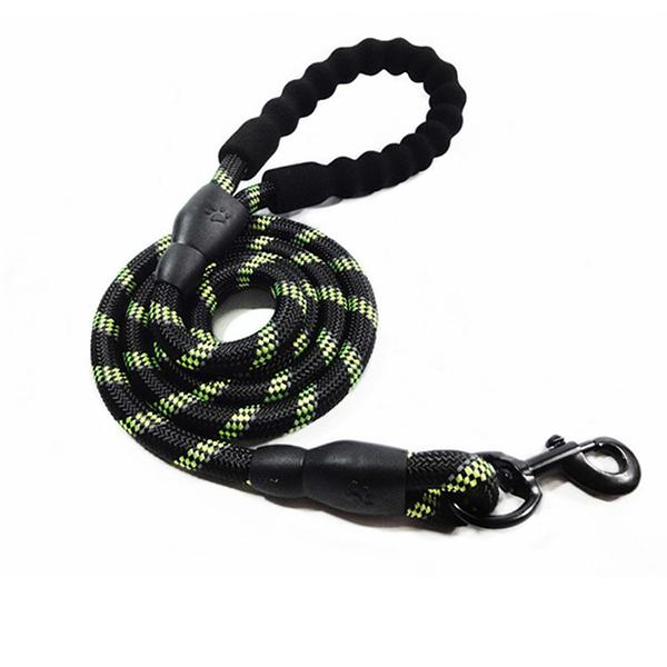 Nylon Reflective Dog Leash Pet Training Leashes Safety 1.5M 1.8M Long Mountain Climbing Rope Dog Lead For Medium Large Dogs